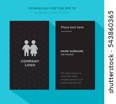 template of elegant business...   Shutterstock .eps vector #543860365