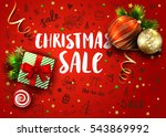 christmas sale template with... | Shutterstock .eps vector #543869992