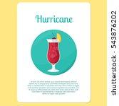 hurricane cocktail menu item or ... | Shutterstock .eps vector #543876202