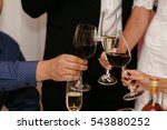 glasses of wine champagne on a... | Shutterstock . vector #543880252