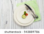 small portion of food. anorexia ... | Shutterstock . vector #543889786