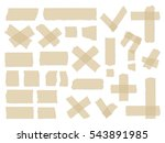 adhesive tapes. vector sticky... | Shutterstock .eps vector #543891985
