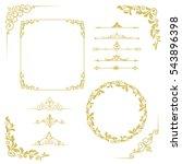 set of vintage elements. frames ... | Shutterstock .eps vector #543896398