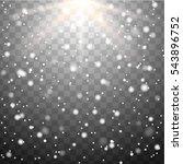 neon white glittering snow dust ... | Shutterstock .eps vector #543896752