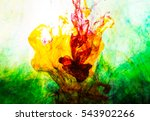 acrylic colors and ink in water.... | Shutterstock . vector #543902266