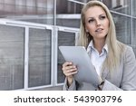 thoughtful young businesswoman... | Shutterstock . vector #543903796