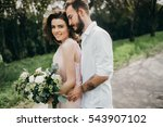 loves groom and bride in the... | Shutterstock . vector #543907102