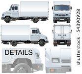 vector delivery   cargo truck | Shutterstock .eps vector #54390928