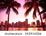 miami florida skyline and bay... | Shutterstock . vector #543914506