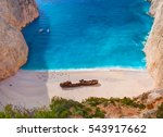 beautiful view on shipwreck... | Shutterstock . vector #543917662