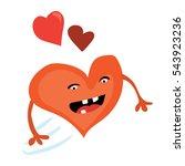 cartoon valentines day romantic ... | Shutterstock .eps vector #543923236