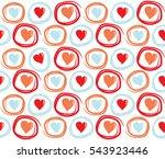seamless valentines day... | Shutterstock .eps vector #543923446