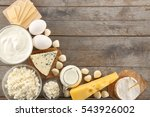 different types of dairy... | Shutterstock . vector #543926002