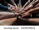 multiethnic group of young... | Shutterstock . vector #543929812