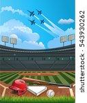 baseball stadium | Shutterstock .eps vector #543930262