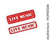 live music stamp sign text red. | Shutterstock .eps vector #543930268