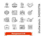 management   human resources.... | Shutterstock .eps vector #543933706