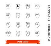 mind states thin line art icons ... | Shutterstock .eps vector #543933796