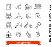 child development   childhood... | Shutterstock .eps vector #543934102