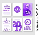 happy new year 2017 and merry...   Shutterstock .eps vector #543935182