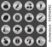 set of 16 editable cookware... | Shutterstock . vector #543936982