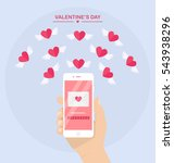 valentine's day illustration.... | Shutterstock .eps vector #543938296
