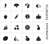 set of 16 editable kitchenware... | Shutterstock . vector #543938716