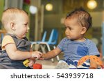 babys playing together in the... | Shutterstock . vector #543939718