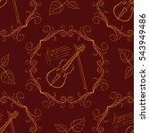 freehand line art seamless...   Shutterstock . vector #543949486