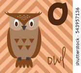 cute cartoon zoo illustrated... | Shutterstock .eps vector #543957136