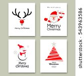merry christmas cards... | Shutterstock .eps vector #543963586