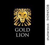 abstract golden lion logo sign...   Shutterstock .eps vector #543969238