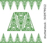 triangle ornament baroque...   Shutterstock .eps vector #543979012