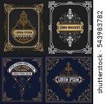 set of vintage cards   Shutterstock .eps vector #543983782