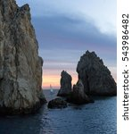 sailboat sailing at sunset  | Shutterstock . vector #543986482