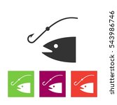 fishing icon vector... | Shutterstock .eps vector #543986746