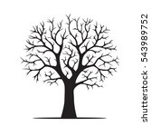 black tree. vector illustration | Shutterstock .eps vector #543989752