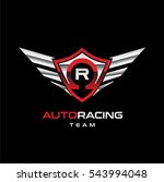 auto racing winged logo sign...   Shutterstock .eps vector #543994048