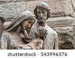 sculpture of the holy family.