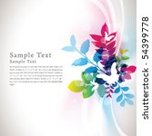 abstract flora background 09 | Shutterstock .eps vector #54399778