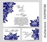 vintage delicate invitation... | Shutterstock . vector #543998788
