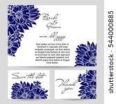 vintage delicate invitation... | Shutterstock . vector #544000885