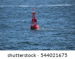 the buoy which floats on the sea | Shutterstock . vector #544021675
