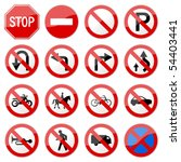 road sign glossy vector  set 6... | Shutterstock .eps vector #54403441