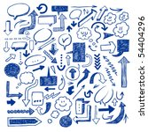 a hand drawn arrows set | Shutterstock .eps vector #54404296