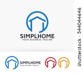 simple home. vector logo... | Shutterstock .eps vector #544044646