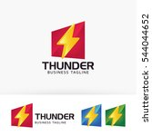 thunder power. vector logo... | Shutterstock .eps vector #544044652