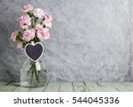 pink carnation flowers in clear ...   Shutterstock . vector #544045336