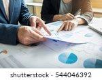 team work process. young... | Shutterstock . vector #544046392
