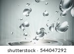 water bubble elements fall and... | Shutterstock .eps vector #544047292